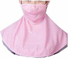 JIA HONG Sonnenschutz-Kopfbedeckung Reit-Anti-Ultraviolett-Nackenmasken,Pink2