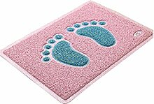 Jia Qing Home Absorbent Foot Pad Anti-Rutsch-Bad Home Badematte Badematte Home Reinigung Anti-Rutsch-Küche,Pink3-S