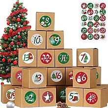jiabushu shop 24 Stück DIY Weihnachtskalender