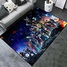 jiadourun Rutschfester Teppich Cartoon Wohnzimmer