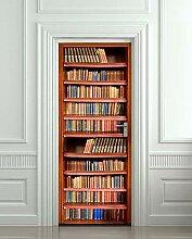 JIAER Bücherregal Bild Wandbilder Wandaufkleber