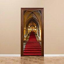 JIAER DIY Tür Aufkleber Wandbilder Kirche