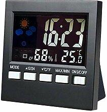 JIAHANLI Wecker scherzt Thermometer Raumuhr Wecker