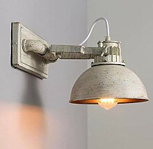 JIAJIA Industrielle Vintage Wandlampe Metall