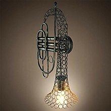 JIAJIA Vintage Style Loft Wandlampe Kreative