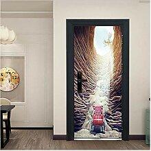 jiajiahua Landschaft Tür Aufkleber 3D Für