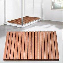 JIAJUAN Natürlich Badematte Holzmatte Holz Dusche