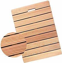 JIAJUAN Natürlich Holz Streifen Bad Dusche