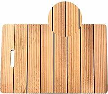 JIAJUAN Natürlich Keine Farbe Holz Badematte Bad