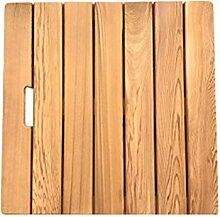JIAJUAN Rechteckig Badematte Natürlich Holz