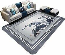 JIAJUAN Teppich Für Wohnzimmer Rutschfest