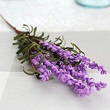 JIALE3536 Künstliche Blumen Ein Lavendel Blume Pflanze Blumen Bubble Simulation Blumenschmuck Dekoration, Lila Farbe