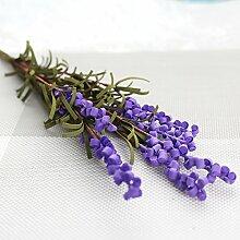 JIALE3536 Künstliche Blumen Ein Lavendel Blume Pflanze Blumen Bubble Simulation Blumenschmuck Dekoration, Viole
