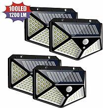 JIALONGZI Solar-Energiespar-Wandlampe, 100 LEDs,