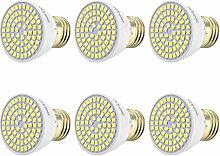 JIALUN- LED E27 / E26 7 Watt 500-700LM 72LED 2835SMD Natürlichen Weißen Led-strahler AC 220-240 V (6 STÜCKE) ( Color : Cool White )