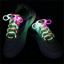 JIALUN- LED RGB 1 Paar 80 cm Glow Schnürsenkel