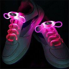 JIALUN- LED Rosa 1 Paar 80 cm Glow Schnürsenkel