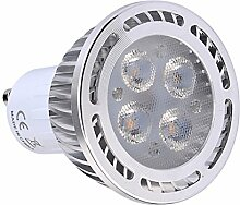 JIALUN- LED SMD 3030 300-400 LM GU10 4W Warmweiß / Cool White Frosted LED-Strahler ( Color : Cool White , Size : 85-265V )
