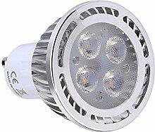 JIALUN- LED SMD 3030 300-400 LM GU10 4W Warmweiß