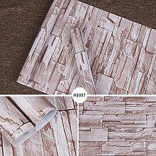 JIANFCR PVC Selbstklebende Tapete Backstein Muster