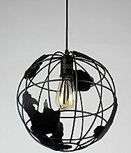 JIANFEI Kronleuchter Amerikanischer kreativer Retro Eisen-Café-Stab-Balkon-Kronleuchter Dekoration ( Farbe : A )