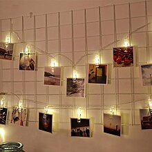 JIANGFU LED-Foto-Clip Lichterkette,1.5M 10 LED Hängende Karte Bild Clips Foto Pegs String Licht Lampe Indoor Decor (B)