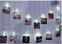 JIANGFU LED-Foto-Clip Lichterkette,1.5M 10 LED Hängende Karte Bild Clips Foto Pegs String Licht Lampe Indoor Decor (A)