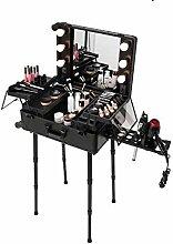 JIANGJIE Tragbare LED Makeup Case Train Case