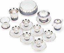 JIANGNANCHUN emailliertes Tee-Set aus Keramik,