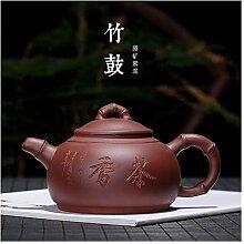 JIANGNANCHUN Große Bambus-Trommel Teekanne
