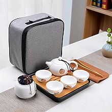 JIANGNANCHUN Keramik-Teeset, tragbar, Reisetasche,