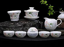 JIANGNANCHUN Tee-Set aus blauem und weißem