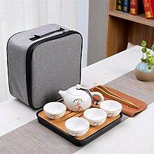 JIANGNANCHUN Tee-Set aus Keramik, tragbar,