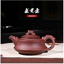 JIANGNANCHUN Teekanne aus lila Ton (Farbe: Rot)