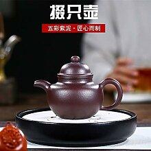 JIANGNANCHUN Teekanne aus violettem Ton,