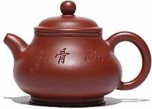 JIANGNANCHUN Teekanne, handgeschnitzt, große rote