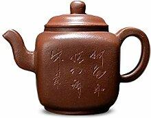 JIANGNANCHUN Teekanne rund vier (Farbe: Braun)