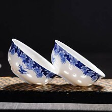 JIANGNANCHUN Teetasse aus Keramik, hohl, Blau und