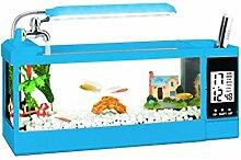 JIANGU Aquarium - Tisch-Mini-Glas-Aquarium, kleine