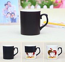 jiangu, China Farbe Cup, Creative Foto Maßgeschneiderte, Personalisierte Paar Geschenke, Magic Becher, Tasse DIY Foto schwarz