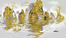 Jiangwei 3D Tapete Farbgebirgsabstrakter Moderner
