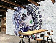 Jiangwei Tapete 3d Schöne weiße Backsteinmauer s