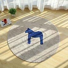 JIANMING Teppiche Baumwolle, Runder Teppich,
