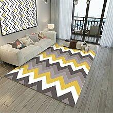 JIAO DE Wohnzimmer dekorative Teppich geometrische