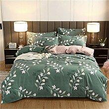 Jiaosa Komplettset Bettwäsche - grün einfache