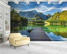 JIAOYK Fototapete 3D Brücke & See Wandgemälde