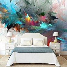 JIAOYK Fototapete 3D Farbe & Feder Wandgemälde