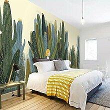 JIAOYK Fototapete 3D Grün & Kaktus Wandgemälde