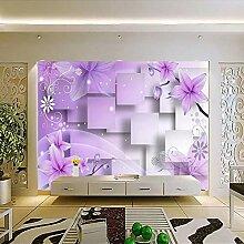 JIAOYK Fototapete 3D Pink & Muster Wandgemälde