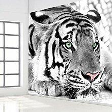 JIAOYK Fototapete 3D Tiere & Tiger Wandgemälde